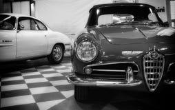alfa Romeo Giulia spader koloru czerwień Zdjęcie Royalty Free