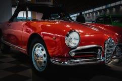 alfa Romeo Giulia spader koloru czerwień Obraz Stock