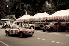 Alfa Romeo Giulia Spider 1600 at Bergamo Historic Grand Prix 2015 Royalty Free Stock Images