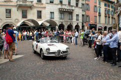 Alfa Romeo Giulia Spider at Mille Miglia 2015 Royalty Free Stock Images