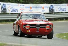 Alfa Romeo Giulia Sprint. A wonderful  Alfa Romeo Giulia Sprint   attends the 33th edition of Coppa del Chianti Classico  a competition race of hill-climb for Stock Image