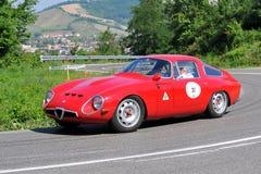 Alfa Romeo Giulia - Vernasca silberne Markierungsfahne 2011 Lizenzfreie Stockfotografie