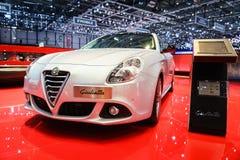 Alfa Romeo Giulietta, έκθεση αυτοκινήτου Geneve 2015 Στοκ Εικόνα
