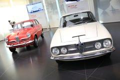Alfa Romeo Giulietta sedan i 2600 Sprint modelów na pokazie przy Dziejowym Muzealnym Alfa Romeo fotografia royalty free