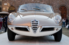 Alfa Romeo Giulietta Spider 1955. From car exhibition of Italian old-timer in Signoria square,Florence , italy Stock Image