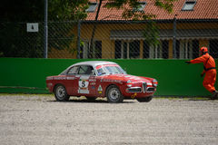 1959 Alfa Romeo Giulietta Sprint Veloce at Monza Stock Images