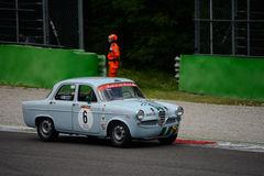 1957 Alfa Romeo Giulietta TI at Monza Royalty Free Stock Photography