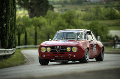 Alfa Romeo GT. An Alfa Romeo GT attends the 27th edition of Camucia Cortona, a competition race of hill-climb for hystorical cars valid for CSAI italian hill Stock Images