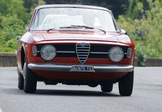 Alfa Romeo GT Junior 1300. Along Via Bolognese (Florence, Italy) during the 1000 miles Royalty Free Stock Photos