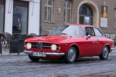 Alfa Romeo GT 1300 Junior oldtimer car Stock Photography