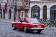 Alfa Romeo GT 1300 Junior oldtimer car Royalty Free Stock Images