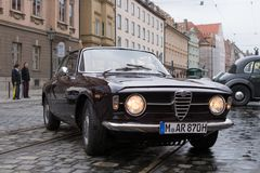 Alfa Romeo GT 1300 Junior oldtimer car Royalty Free Stock Photos