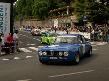 Alfa Romeo GTA på Bergamo den historiska granda prixen 2015 Arkivfoton