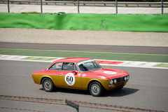 1971 Alfa Romeo GTV 2000. An Alfa Revival Cup event was hosted at Monza in occasion of the 2016 Intereuropean Cup Stock Image