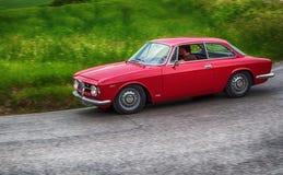 Alfa romeo junior scalino red Royalty Free Stock Image
