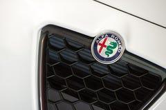 Alfa Romeo-kenteken Stock Foto's