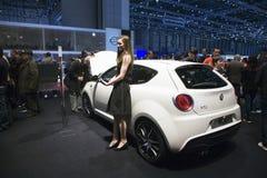 Alfa Romeo Mito at Geneva Motor Stock Image