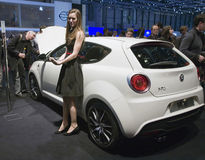 Alfa Romeo Mito at Geneva Motor Stock Photography