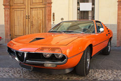 Alfa Romeo Montreal. Alfa Romeo Coupe - Vintage sports car Stock Photo