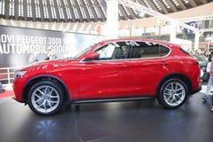Alfa Romeo przy Belgrade car show Zdjęcia Stock