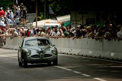 Alfa Romeo przy Vernasca srebrem Zaznacza 2017 Zdjęcia Stock