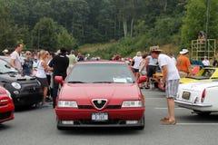 alfa Romeo 164 przy wydarzenie przodu kątem Obraz Stock