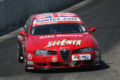 Alfa romeo racing car Stock Photos