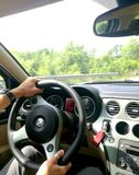 Alfa Romeo-rit Stock Fotografie