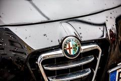 Alfa Romeo samochodu emblemat fotografia royalty free
