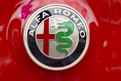 Alfa Romeo samochodu logo fotografia royalty free