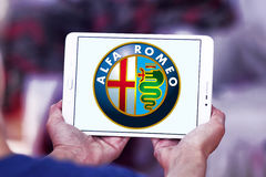 Alfa Romeo samochodu logo zdjęcie royalty free