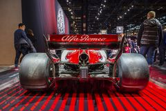Alfa Romeo Sauber Formula 1 automobile immagini stock libere da diritti
