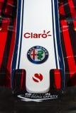 Alfa Romeo Sauber Formula 1 carro imagem de stock royalty free