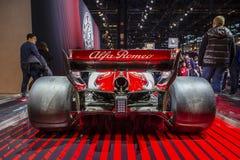 Alfa Romeo Sauber Formula 1 coche imágenes de archivo libres de regalías