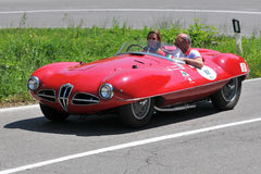 Alfa Romeo spider 1954 -Vernasca Silver Flag 2011 stock images
