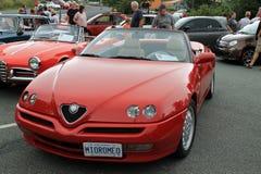 Alfa romeo spider front view stock image