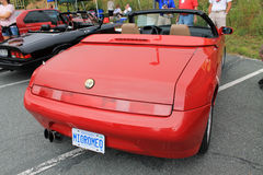 Alfa romeo spider rear view Royalty Free Stock Images