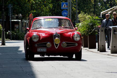 Alfa Romeo 1900 Super-Sprint Turing bei Mille Miglia 2016 Lizenzfreie Stockbilder