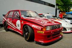 Alfa Romeo 75 Turbo Evoluzione alla bandiera 2017 dell'argento di Vernasca Fotografia Stock