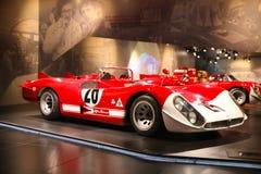 Alfa Romeo typ 33/2 Le Mans na pokazie przy Dziejowym Muzealnym Alfa Romeo obraz royalty free