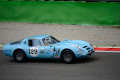 1965 Alfa Romeo TZ2 Tubolare Zagato at Monza Royalty Free Stock Images