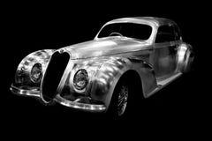 Alfa Romeo Vintage chromium plated car Stock Photo