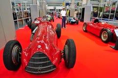 Alfa Romeo vintage race car stock photo