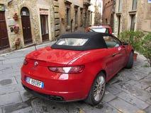 Alfa Romeo in Volterra Italien Stockbild