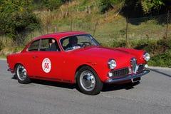 Alfa storica Romeo Giulietta dell'automobile fotografie stock libere da diritti