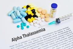 Alfa thalassemia traktowanie zdjęcie royalty free