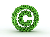alfabetäpplen copyright det gröna tecknet Arkivbild