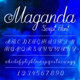 Alfabet écrit par main Illustration Stock