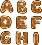 Alfabet 1 van de peperkoek Stock Foto's
