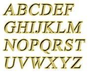Alfabet Royalty-vrije Stock Fotografie